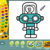 Robots coloring pages A Free Education Game