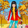 Red coat girl dress up