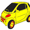 Fast wheel  car coloring