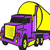 Big purple lorry coloring
