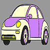 Purple old model car coloring