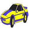 Blue classic car coloring