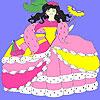 Princess at the  masquerade coloring