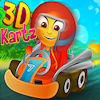 Race with fast kartz in this 3D game with 25 levels. Buy upgrades for better steering. Collect all the special items and complete all tracks. Charge the special challenge meter to complete the level quicker. After each 5 levels you will get an extra star. Try to complete all levels and beat the high score.
