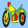 Fast colorful motorbike coloring