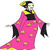 Play Pink kimono coloring