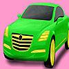 Bright pistachio car coloring Game.