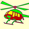 Hot helicopter coloring