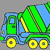 Fast concrete truck coloring
