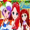 The royal three cute princesses want to have a special Christmas holiday. Take a look all the Christmas dresses prepared for them and choose the most perfect one for them! They must be the most beautiful and cutest princesses under your help.Have fun!