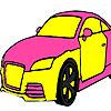 Grand pink  car coloring