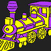 Fast purple train coloring