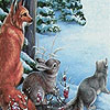 Cute animals in snow puzzle