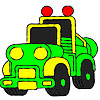 Superb jeep coloring Game.