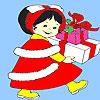 Little girl birthday gift coloring