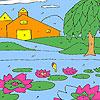 Lotus garden coloring
