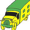 Transport car coloring