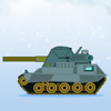 One does need to be afraid of this battle, as it will not spill a single drop of blood - only some freezing snowballs will be dropped onto the opponent`s tank. Your goal in this game is to shoot snowballs at your rival until his tank is totally covered with snow. In the game, your tank will be placed on the right of the screen, while that of the computer is located on the left. A windmill will be located between the two tanks, showing the wind direction with an arrow and the wind speed with a propeller. An arrow-shaped pointer will appear on your tank, and you can click to set the launching angle, then click again to set the launching power. After you have launched a snowball, the computer will start its turn. Each time when you successfully hit the opponent`s tank, 1000 points will be awarded. Since the wind directions and speed will change constantly, you need to take notice of the situation or your shots will miss. Continue the process until one of the tanks is totally covered with snow, then the game will end. Bury your rival before he gets in your way!
