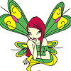 Green winged fairy coloring Game.