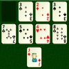 A card game of memory and strategy.  The aim of Four Pile Patience is to place cards from ace to king of each suit on the four foundations.  Cards can be moved from the stock to any pile, and in a limited manner between piles.