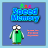 Speed Memory is a matching game where the player need to remembers what cards he or she sees when a match is not made, and determine where pairs are located after several failed tries. The player`s objective is try to achieve highest score per second.