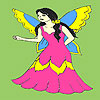 Little fantastic fairy coloring