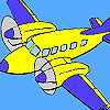 High flying  plane coloring