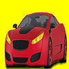 Red road  car coloring