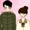 Dress up the happy manga couple for a lovely date in Valentine`s day!