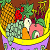 Fruits in a basket coloring