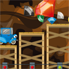 Help johnny car to reach the piles of gems, think carefully before you act. During the route you follow, you will get help from the elevators, fans but also from mobile platforms to reach the piles of stones.