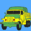 Military green trucks coloring