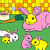 Rabbits in the kitchen coloring