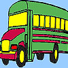 Grand school bus coloring