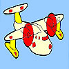 Mini airplane coloring