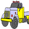 Gas truck coloring Game.