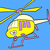 Sightseeing helicopter coloring