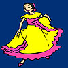 Gaby flamenco dance coloring A Free Customize Game