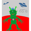 UFO - Martian Coloring A Free Customize Game