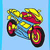 Fast racer motorbike coloring