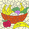 Classic fruit basket coloring