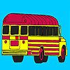 School bus parking coloring
