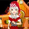 Mary today is very happy as she has been chosen to dress up in the guise of Santa. She has asked you to help her dress up in casual suits so that she resembles Santa exactly. Will you be able to do that, try?