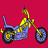 Fast harder motorbike coloring