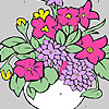 Fresh flowers in a vase coloring