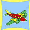 Coastal airplane coloring