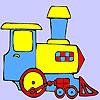 Mini green train coloring
