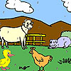 Funny farm animals coloring Game.