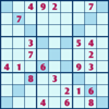 Let`s give the mysterious member of the sudoku club a warm welcome. In Sudoku X you will be given a 9x9 grid, which is evenly divided into 9 squares. Your goal in the game is to put numbers 1 to 9 onto the blanks of the grid, such that the numbers will not be repeated in each row, each column, and each 3x3 square. In addition to that, some of the blanks will be highlighted in a darker background such that 2 diagonal lines are formed, and the numbers in a diagonal line should not be the same. You can click a number on the number pad on the left of the grid to fill in a blank, and if you would like to remove a number previously entered, you can click the cross button at the bottom of the number pad to erase it. If you are not able to put a number, you may click the Hint button under the grid to reveal one of the answers, but note that each time you do so 100 seconds will be added to the amount of time you have spent, as indicated at the bottom left corner of the screen. Can you complete the X pattern and earn the most prestige in the sudoku club?