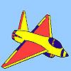 Hot aircraft coloring Game.